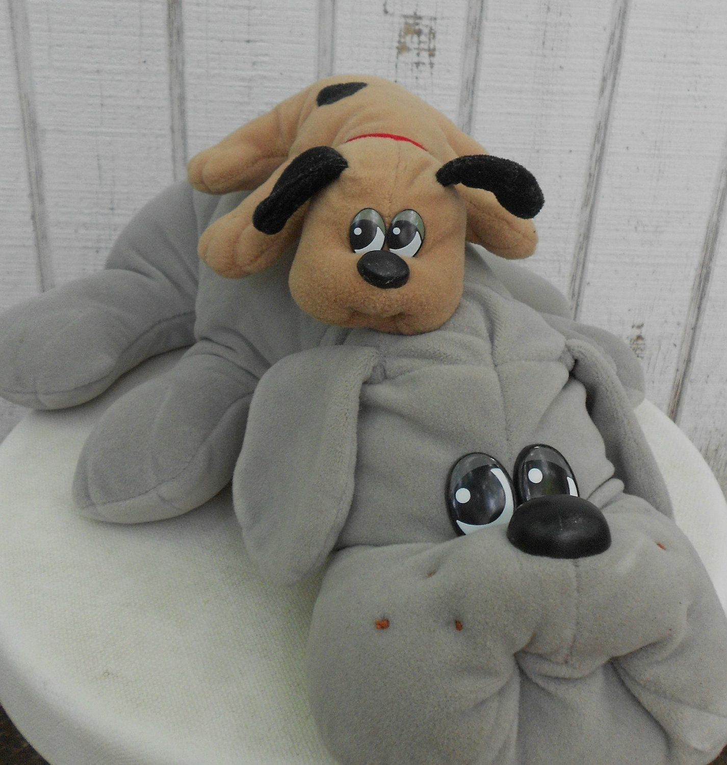 80s Toy Pound Puppy Set Of Two Grey Mother And By Kerrilendo 12 00 Usd Via Etsy Childhood Memories Childhood Toys Childhood