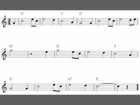 Amazing Grace Easy Flute Sheet Music Solo Youtube With Images