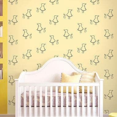 Wall Candy Arts Bunny Up Removable Wallpaper in Buff | Bunnies, Art ...