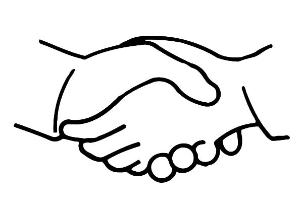 Shaking Hands Coloring Pages Best Place To Color Sartoria