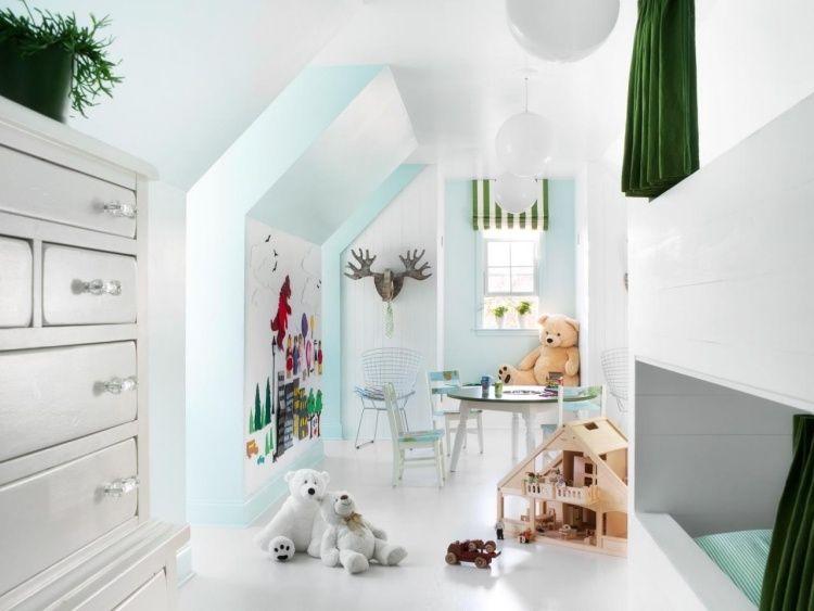 28 Einrichtungsideen Für Kinderzimmer Mit Dachschräge. Kleines KinderzimmerBaby  KinderzimmerSpielzeugDachgeschosseDachzimmerKinderzimmerideenDachboden ...
