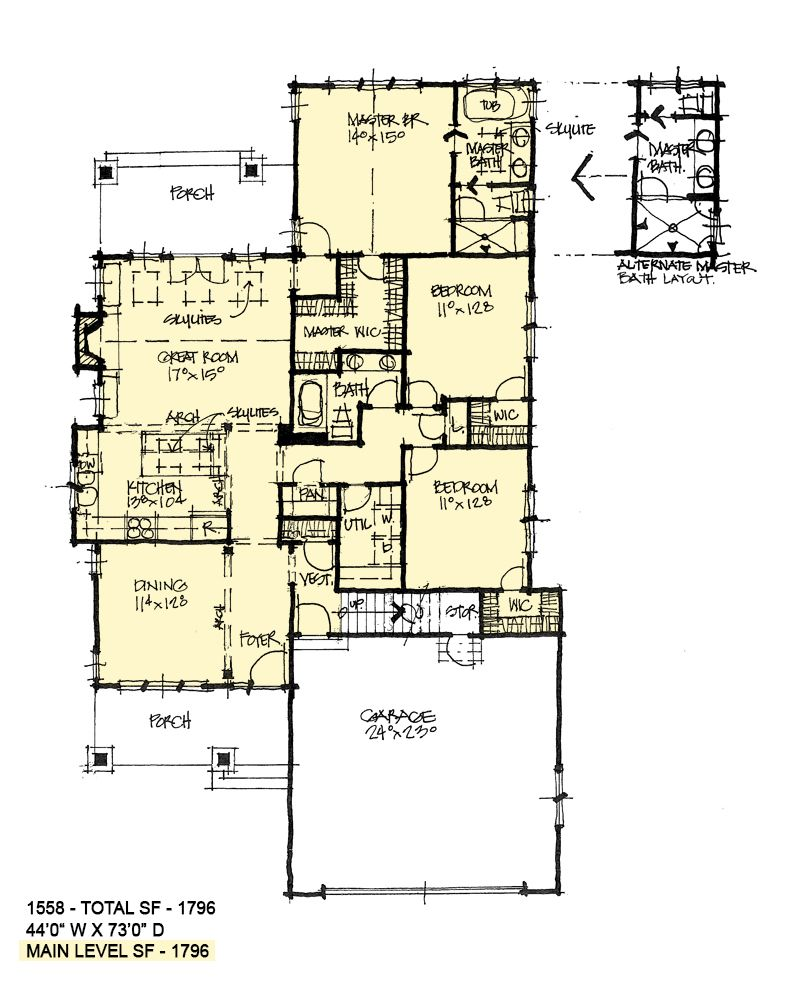 House Plan 1558 Modest Cottage House Plans How To Plan Floor Plans