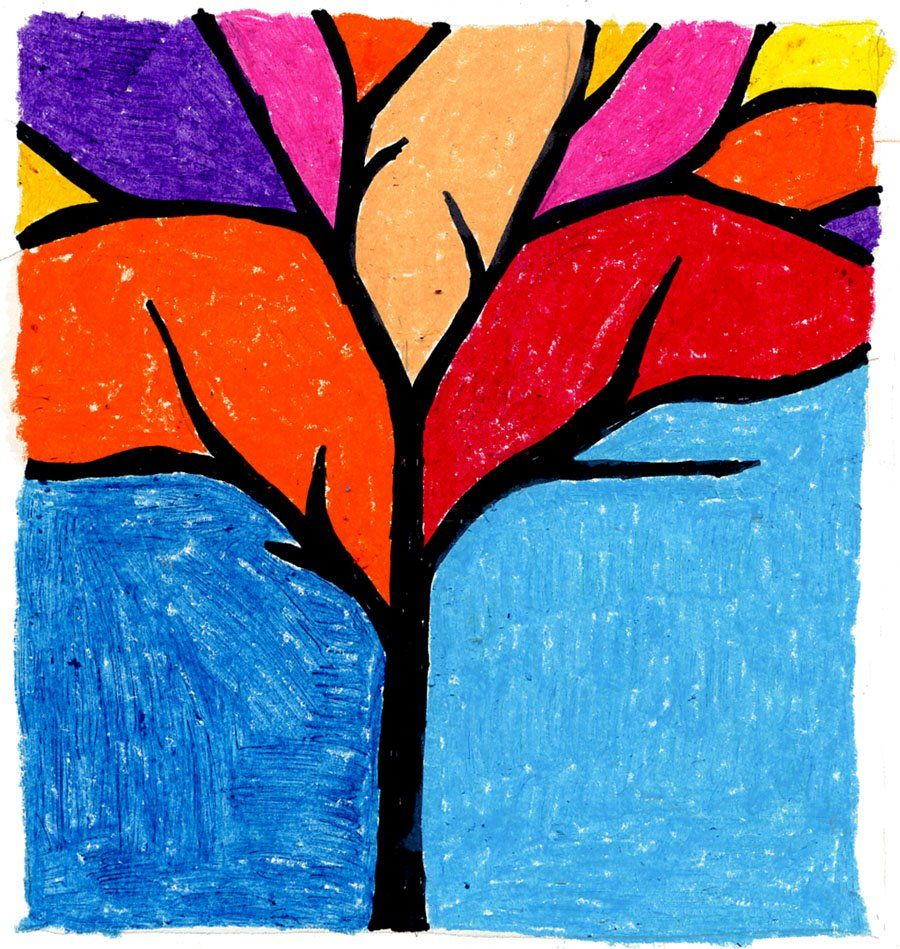 Abstract Tree Fall Art Projects Cool Art Projects Autumn Art