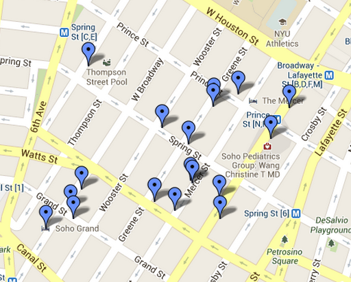 soho new york shopping map new york map