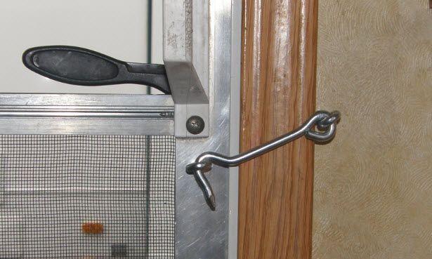 Rv Kids Screen Door Lock Screen Door Lock Travel Trailer Floor Plans Camper Maintenance