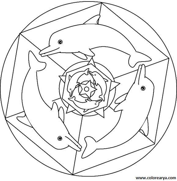 mandalas para pintar de delfines - Buscar con Google | delfines ...