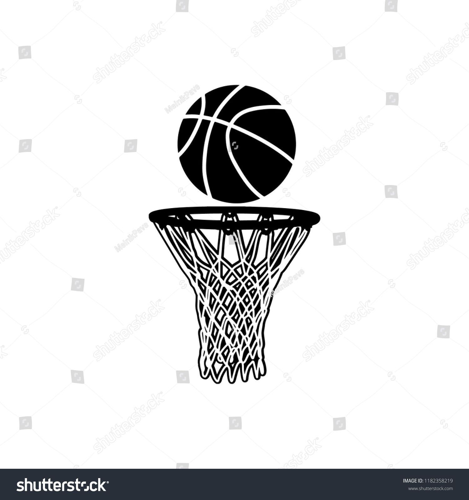 Basketball Doodle Icon Ad Spon Basketball Doodle Icon In 2020 Doodle Icon Vector Illustration Mockup Design