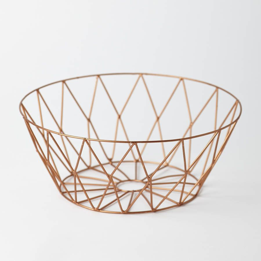 A copper wire basket with great style credentials.The contemporary ...