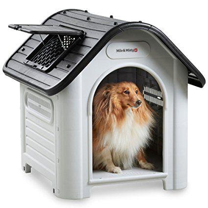 Milo Misty Medium Plastic Dog House Outdoor Kennel For Pet