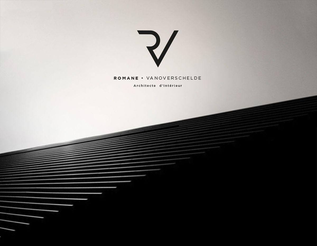 Romane Architecte D Interieur Brand Identity On Behance Logo
