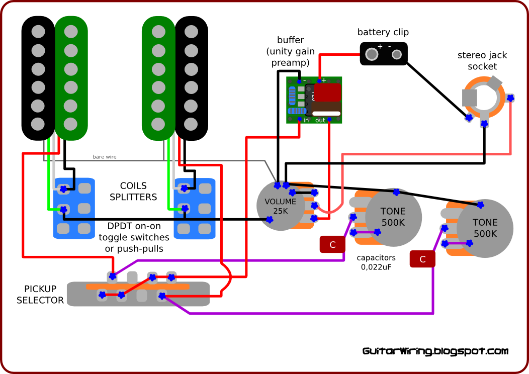 The Guitar Wiring Blog  diagrams and tips: Wiring Inspired by Jerry Garcia's Guitar | guitars