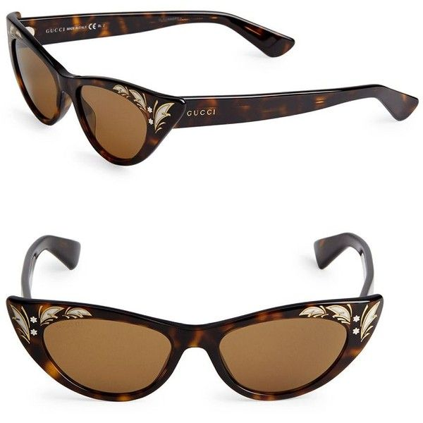 6f5ec938ca Gucci 50MM Cat Eye Sunglasses ( 150) ❤ liked on Polyvore featuring  accessories