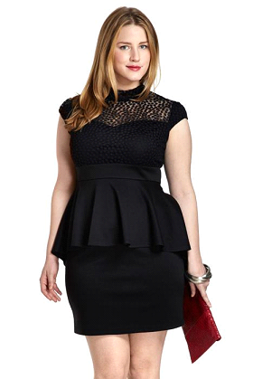 Peplum dress plus size uk crop