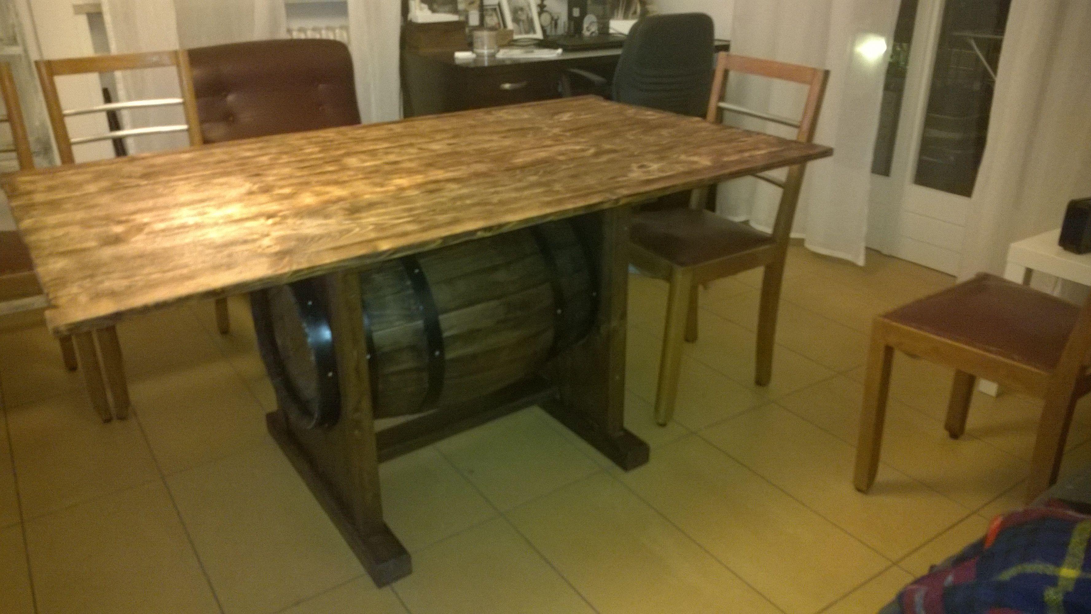 Tavolo bancali ~ Tavolo pallet botte lavori con legno home made