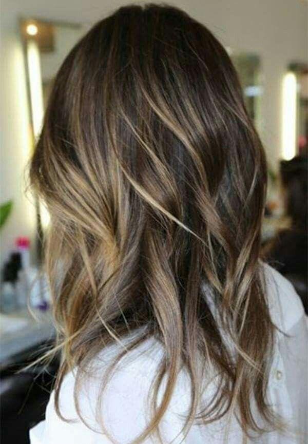Partial Blonde Highlights On Dark Brown Hair Hairstyle