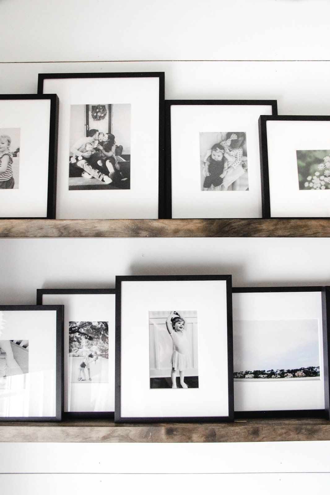 Floating Shelf Photo Gallery In 2020 Gallery Wall Shelves Gallery Wall Living Room Photo Wall Decor
