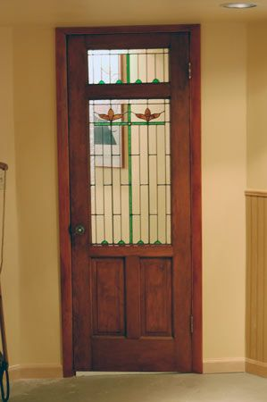 stained glass door (for basement even?) | Stained glass ...