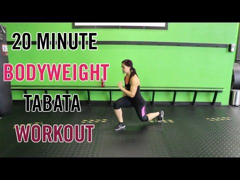 4 20 minute full body tabata workout  bodyweight only