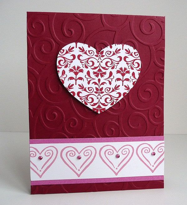 Valentine Card Ideas To Make Part - 22: Hand Made Card Ideas | Shape Handmade Valentine Card Idea 25+ Cute Happy  Valentines Day