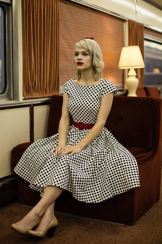 cadb53d564 50's rockabilly dresses, retro style bridesmaids dress, modest clothing  with sleeves - AMY style