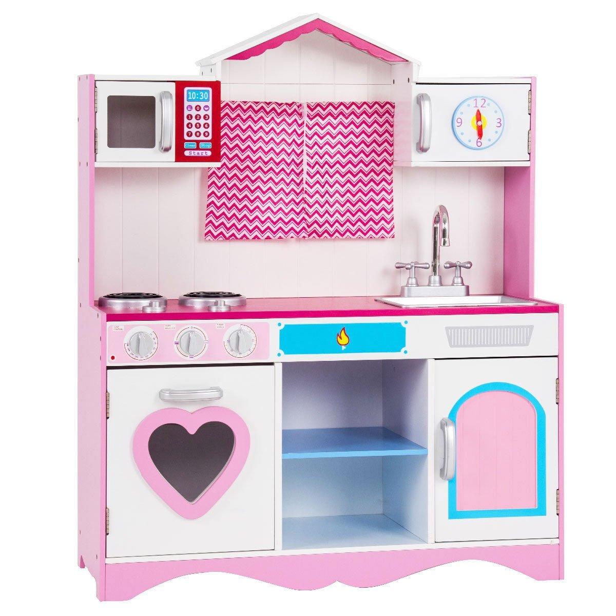 Wood Kitchen Toy Kids Cooking Pretend Play Set | Toy kitchen ...
