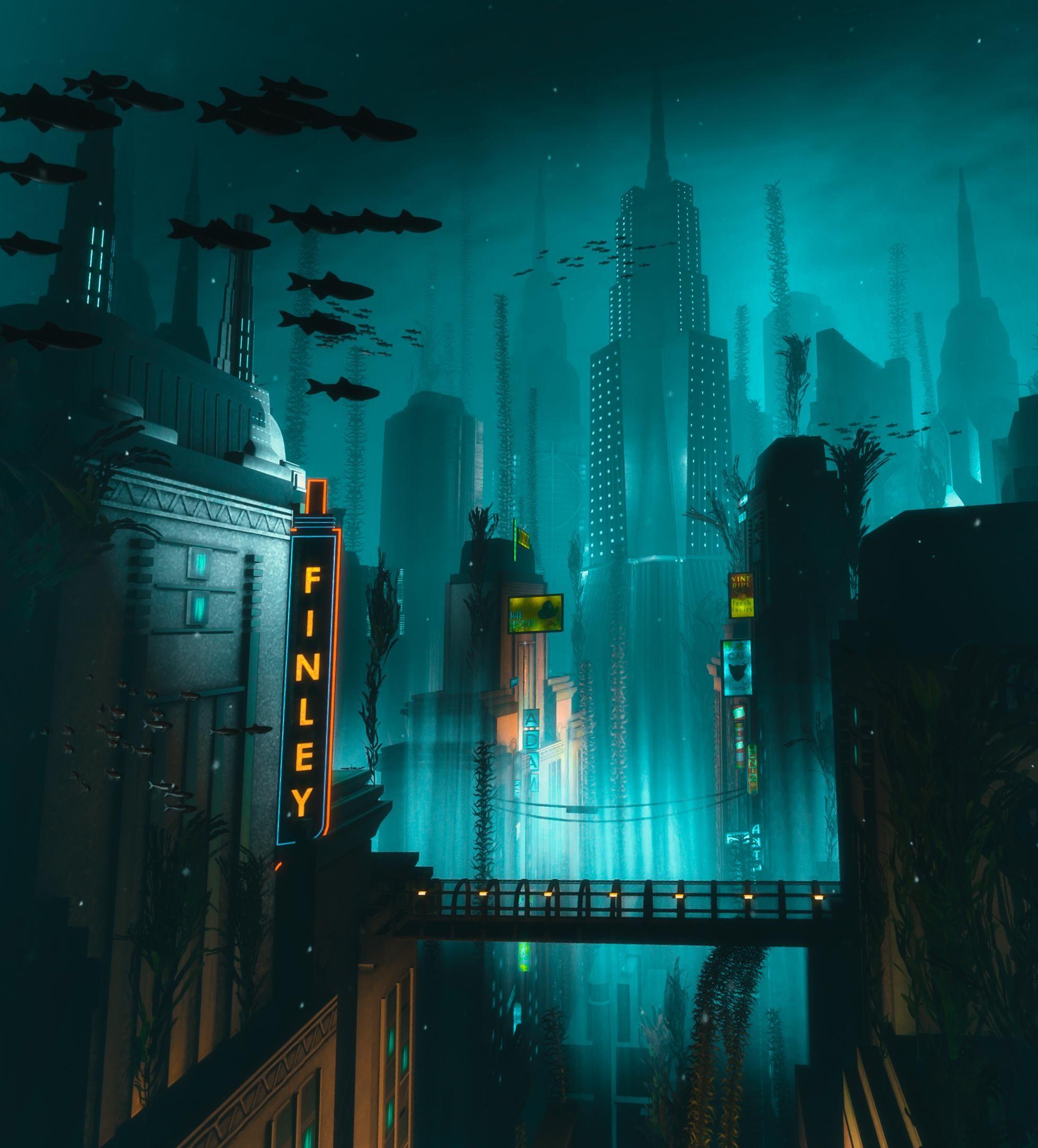 The City Of Rapture Bioshock Bioshock Rapture Bioshock Art