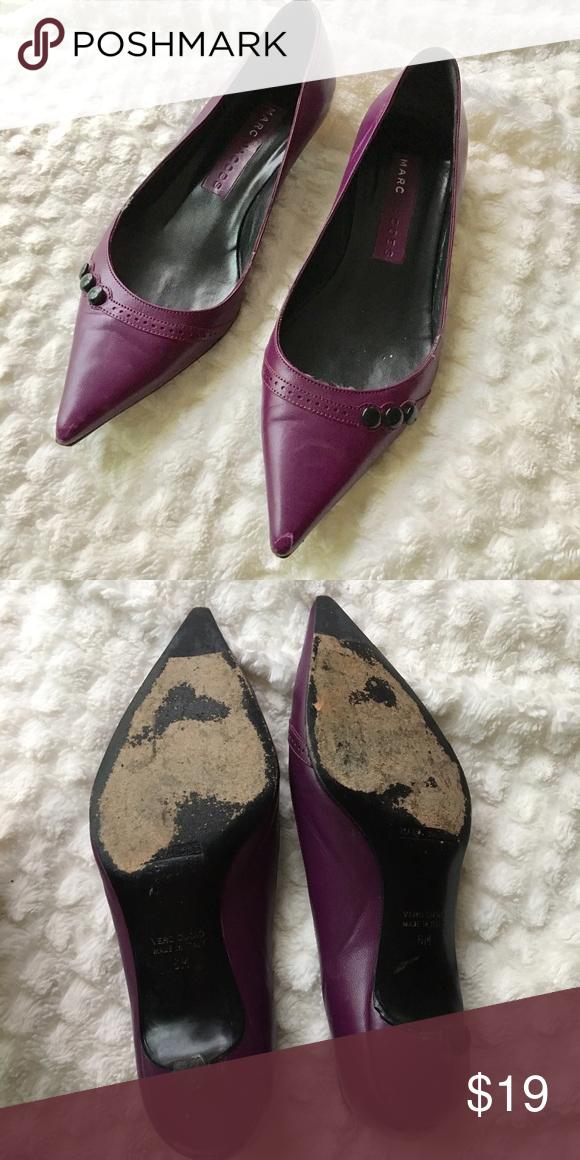 best loved 438b5 e43fb Marc Jacobs Shoes | Purple Marc Jacobs Kitten Heel | Color ...