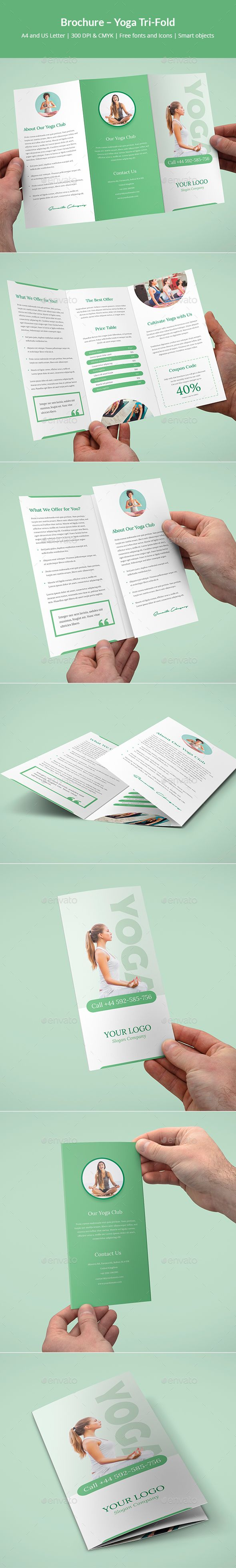 Brochure – Yoga Tri-Fold | Yoga, Folletos y Sencillo