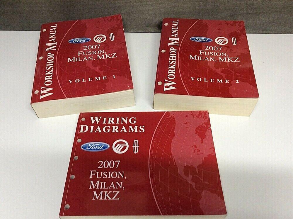 Advertit eBay) Set of 3 Original Ford shop manuals ... on
