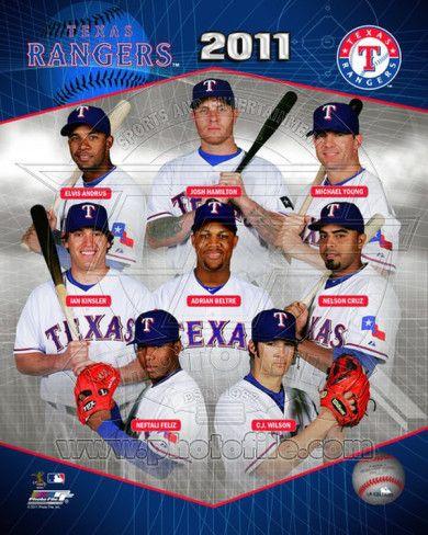 2011 Texas Rangers Team Composite Photo Allposters Com Texas Rangers Rangers Team Texas Rangers Logo