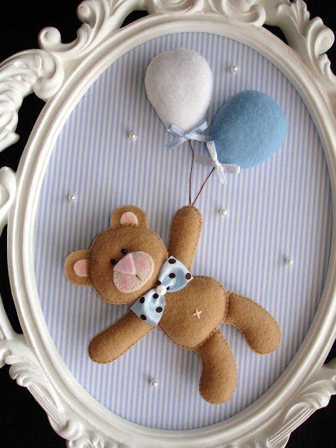 Arte de Pano: Os ursinhos do Gabriel - If I\'m feeling craft ...