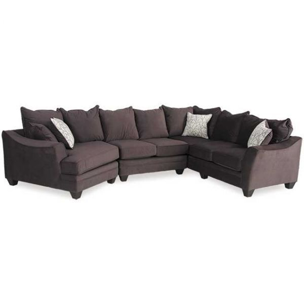 Cozy Up With The 3pc Sectional Laf Cuddler From American Furniture Company Contemporary