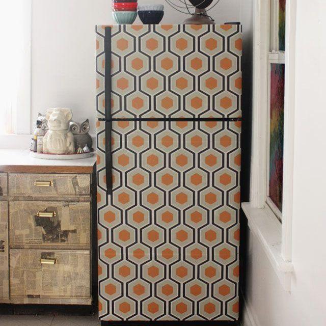 tout ce qu 39 on peut faire avec du papier peint r frig rateurs objet deco et papier peint. Black Bedroom Furniture Sets. Home Design Ideas