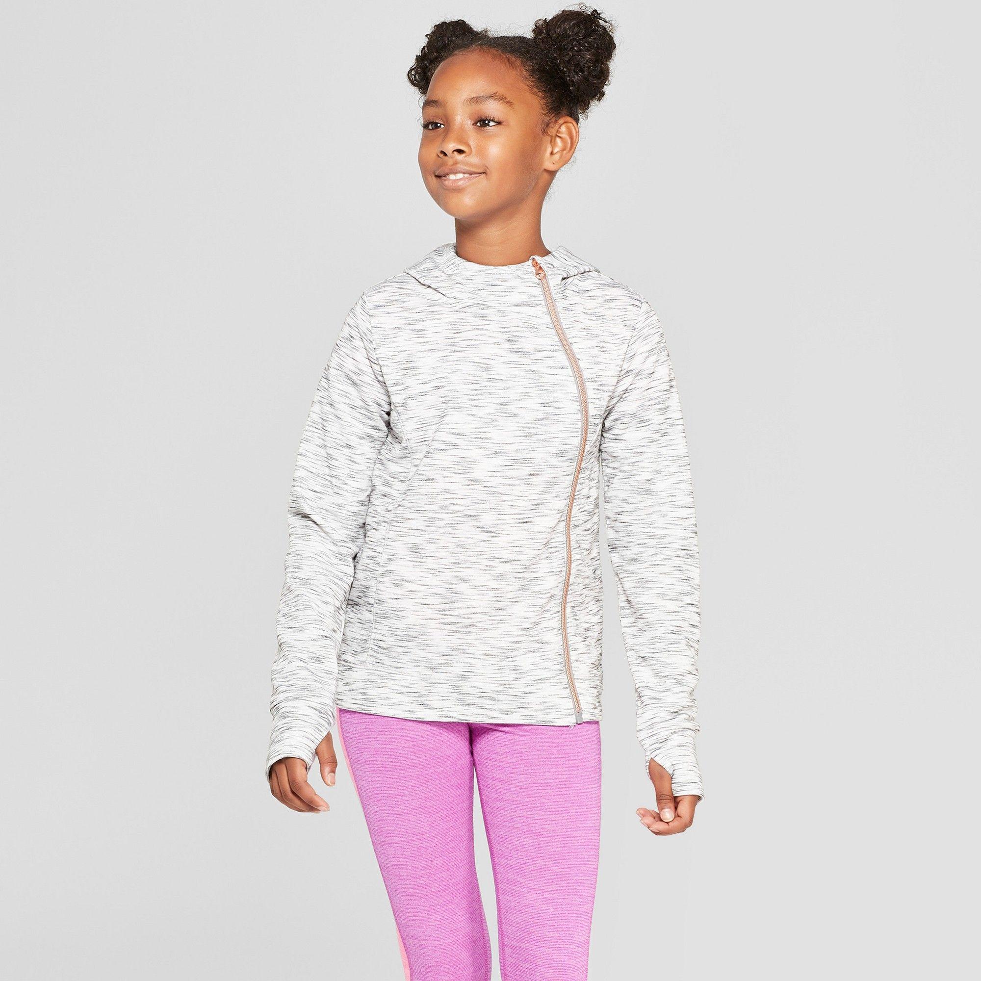 d2a1a623 Girls' Activewear Sweatshirt - C9 Champion Gray Heather XS ...