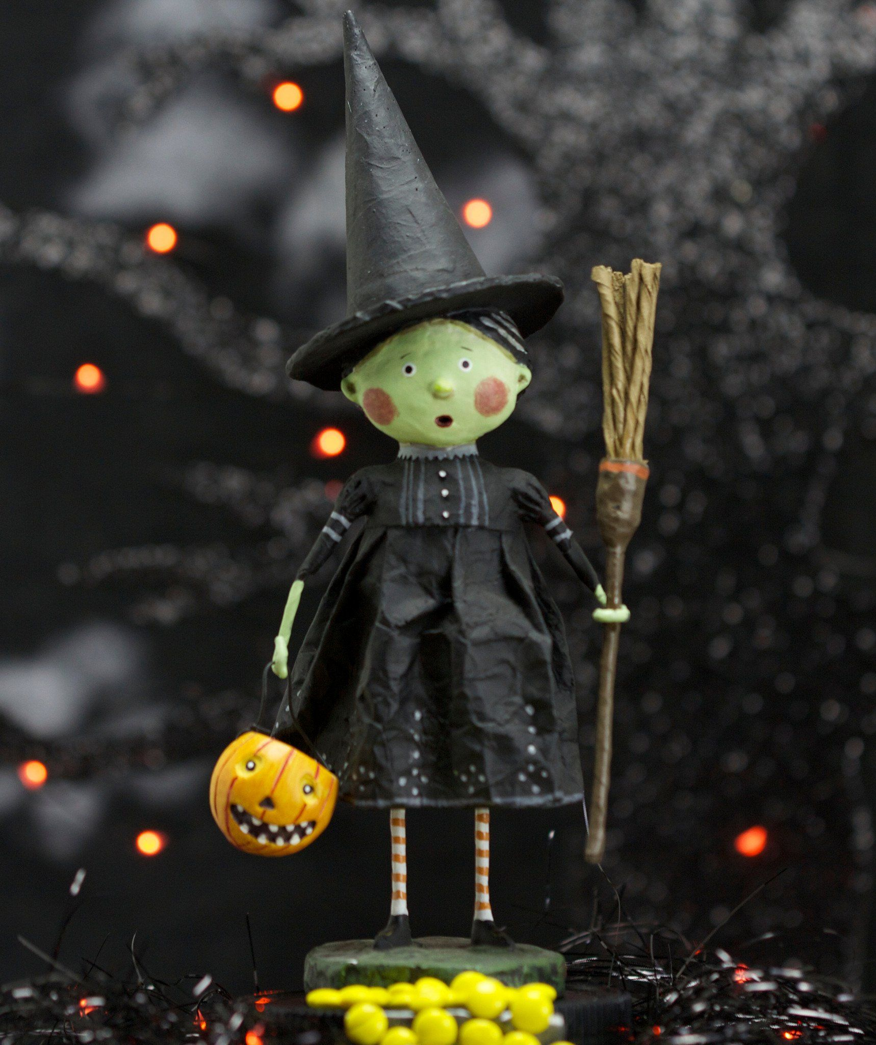 Lori Mitchell Wicked Witch Figurine - Cute Halloween Decorations