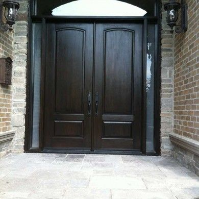 Entry executive double solid 8 foot fiberglass front door with 2 exterior door woodgrain fibergllass solid double front door with 2 side lights and matching arch ransom installed by door replacement toronto in eventshaper