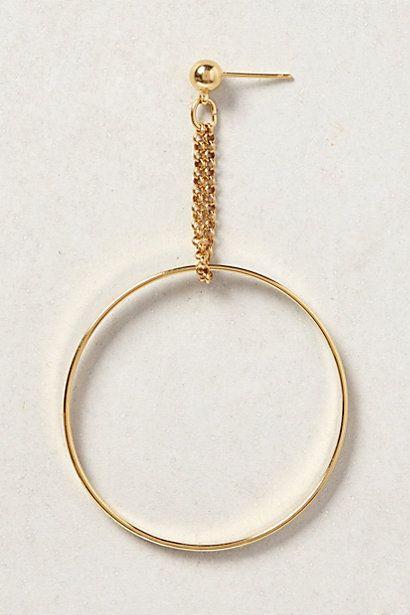 Golden Suspension Hoops - anthropologie.com