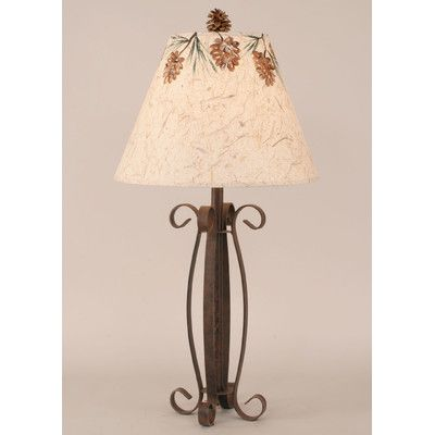 "Coast Lamp Mfg. Rustic Living Iron 29"" H Table Lamp with Empire Shade"