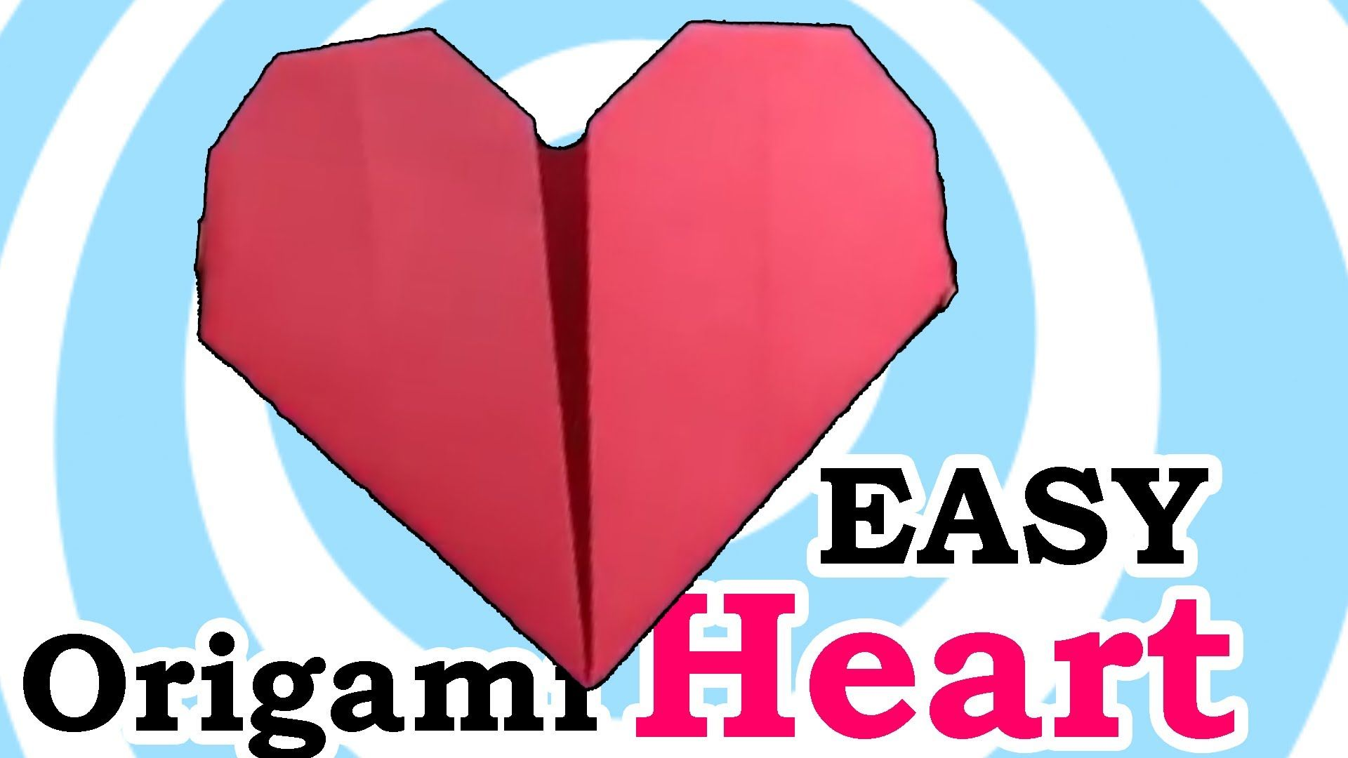 Easy origami heart valentines day origami instructions or ideas how to make easy origami heart video instruction you can fold the origami heart easy you need only red squared paperd 2 minutes free time jeuxipadfo Image collections