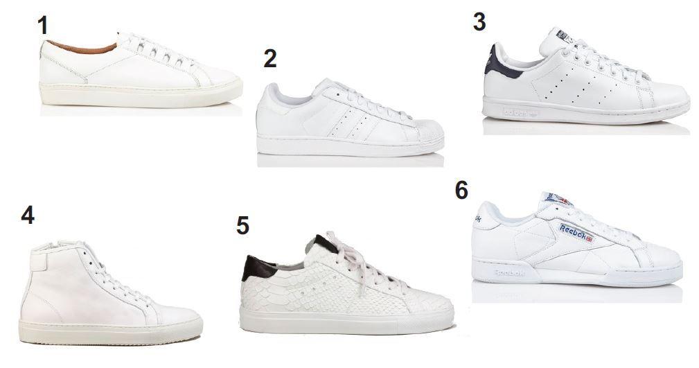 WISHLIST : les plus belles baskets blanches pour homme