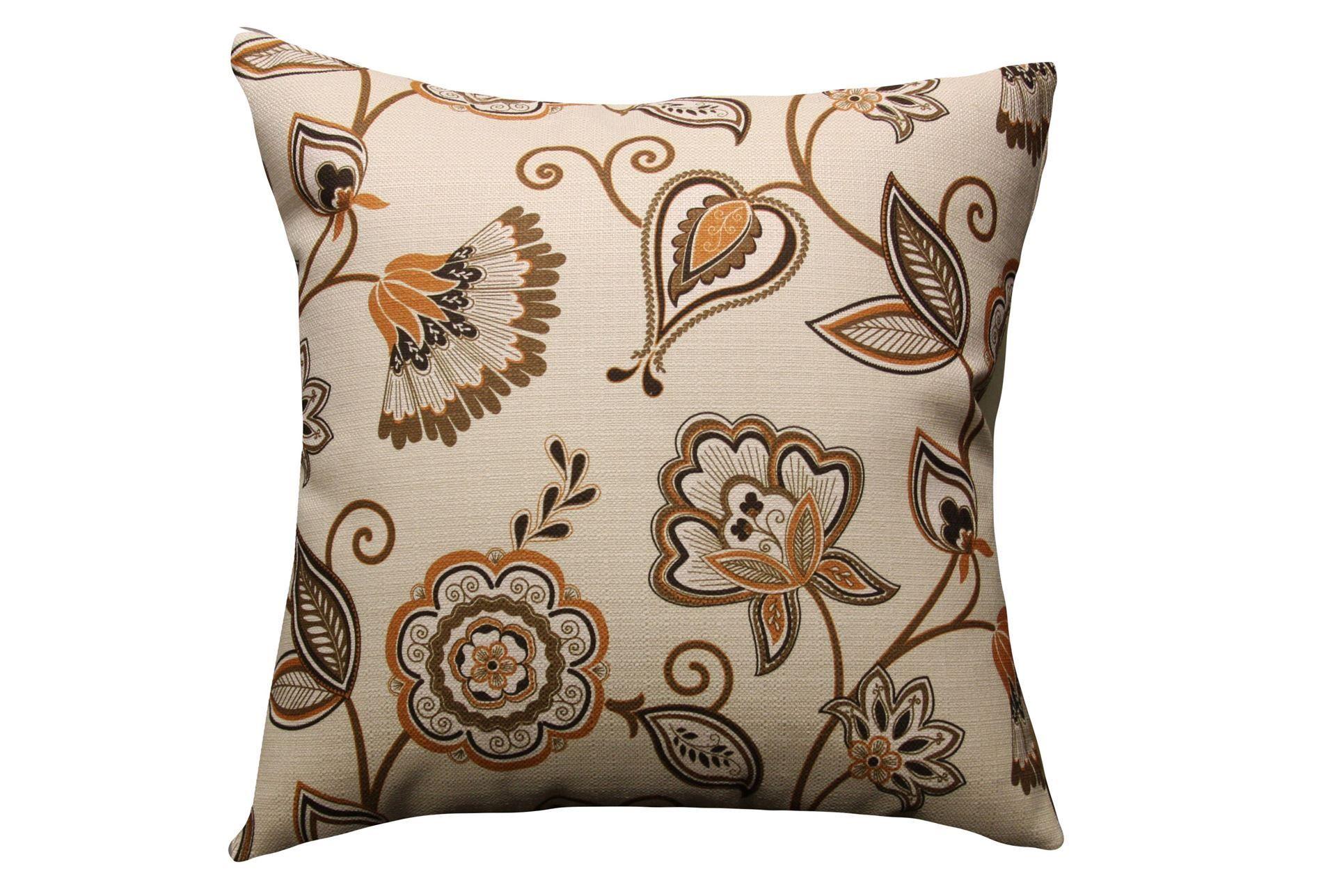 Accent Pillow-Orange Floral 20X20