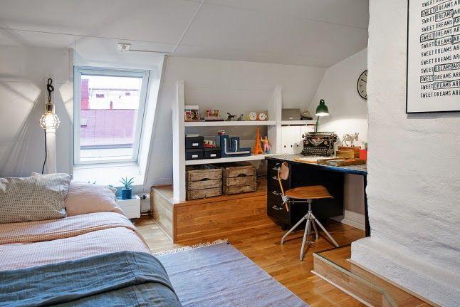 Una pequeña buhardilla con mucho encanto | Decorar tu casa es facilisimo.com