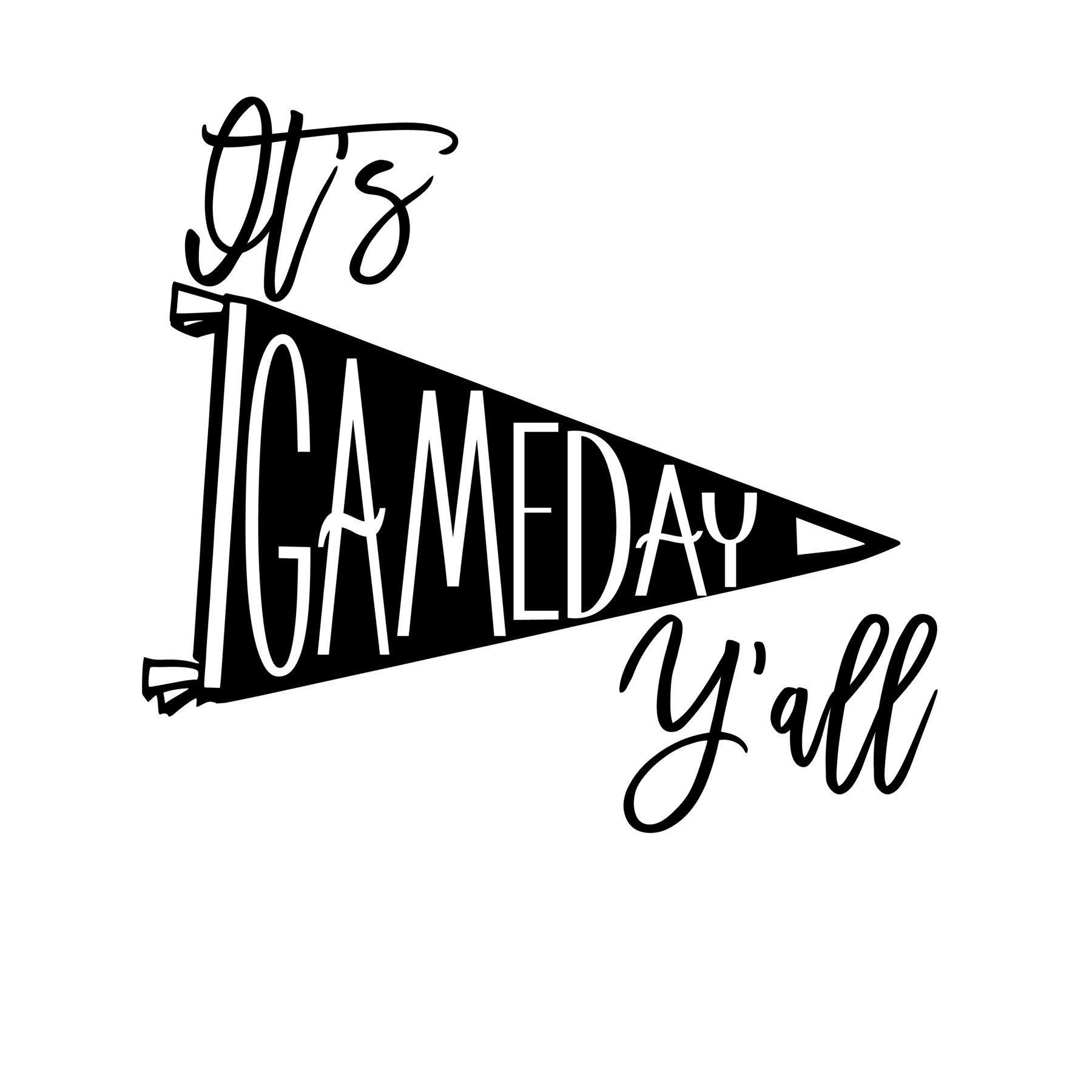 It/'s Game Day Y/'all Digital Download Baseball SVG DXF PNG