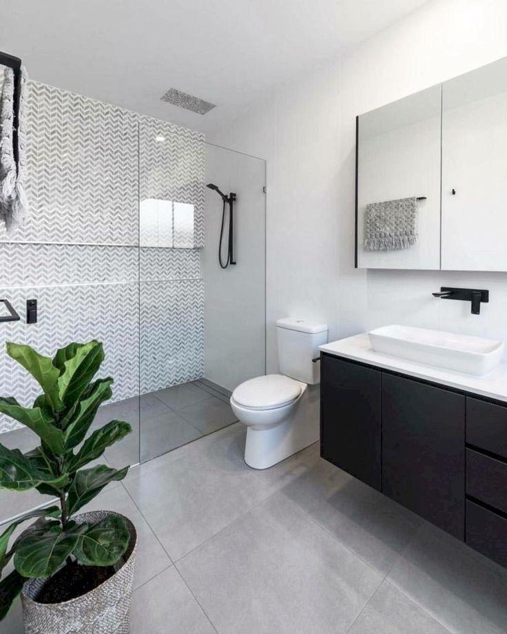 44 Creative Tiny House Bathroom Remodel Ideas To Make It Look Larger | Justaddblog.com  #bathroom  #bathroomremodel  #tinyhouse #tinymodernbathroomideas #tinyhousebathroom