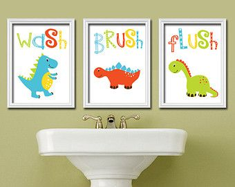 Por Items For Dinosaur Bathroom On Etsy