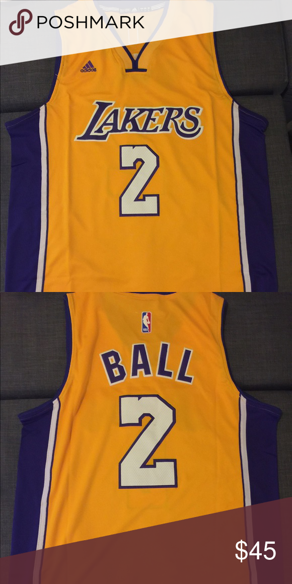 ecdc655643d NWT LONZO BALL #2 lakers swingman jersey NWT Lonzo Ball #2 Los Angeles  lakers yellow throwback swingman jersey adidas Shirts Tank Tops