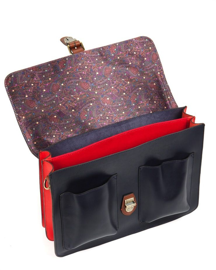 32ce6a7484a981 Harlemm Briefcase by Ted Baker mixed leather Harlemm Briefcase by Ted Baker