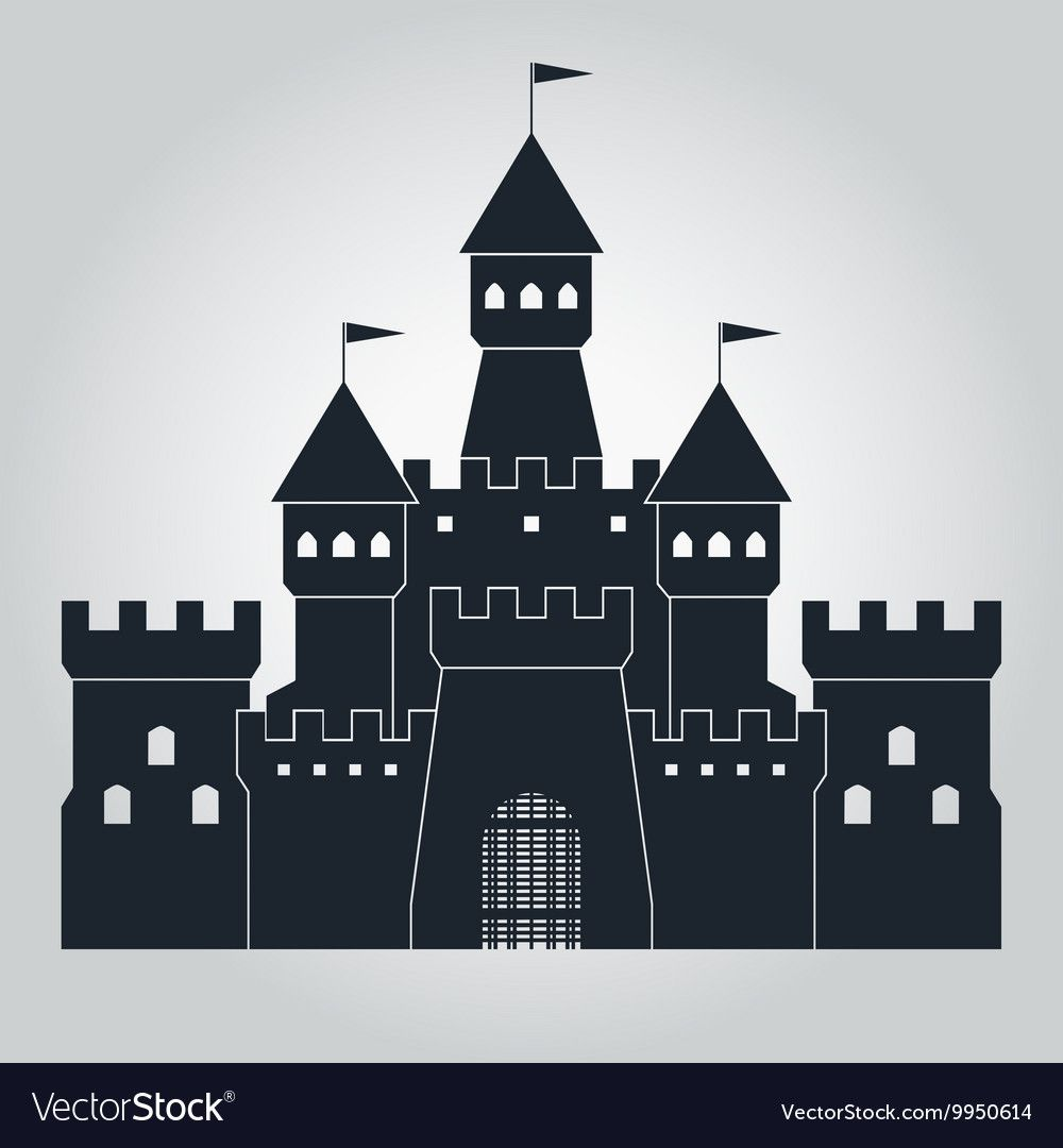 Medieval Castle Silhouette Royalty Free Vector Image Affiliate Silhouette Castle Medieval Ro Castle Silhouette Castle Illustration Silhouette Vector