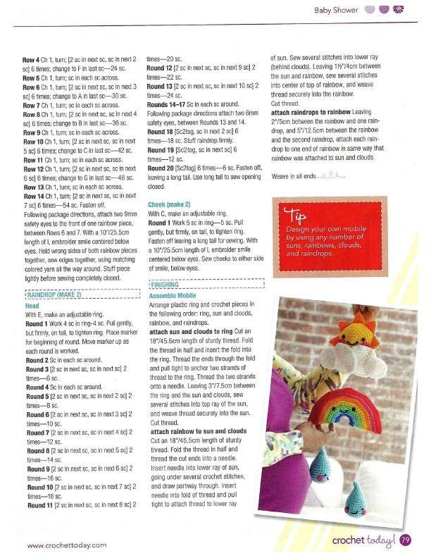 Happy Baby Mobile Crochet Pattern | Pinterest