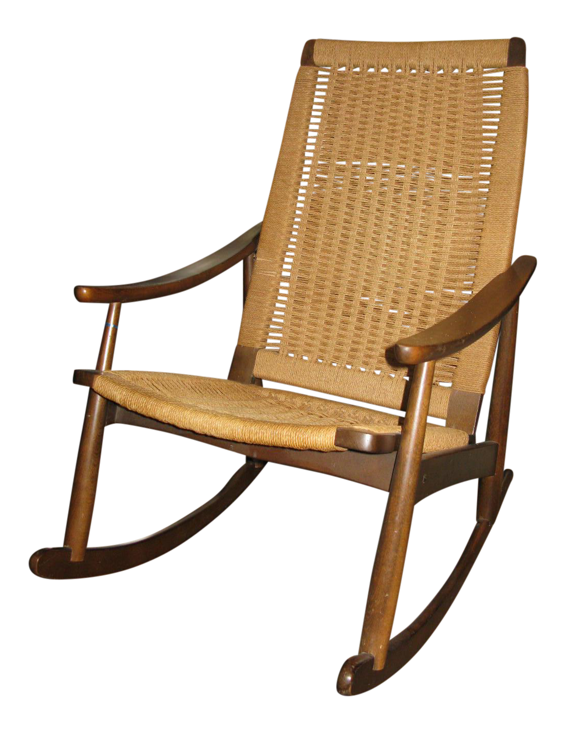 Crate And Barrel Rocking Chair Hans Wegner Style Rope Rocking Chair On Chairish Beeler In